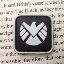 2 PC MINI Agents of S.H.I.E.L.D 3D PVC MORALE BADGE PATCHES GLOW IN DARK