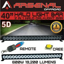 "46"" 5D HALO LED Light Bar by Arsenal Offroad HALO DRL / Super Spot-CREE 10W LED"