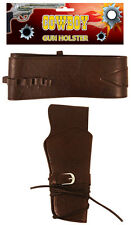 Western Cowboy Pistola Arma Fancy Dress Correa Y Funda Halloween de adulto Accesorio