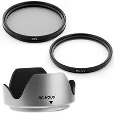 55mm Thumb Drive Lens Hood,CPL,UV Filters for SONY DSLR-A200 SLR Camera NEW