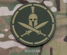 SPARTAN MULTICAM TACTICAL COMBAT BLACKOPS BADGE MORALE PVC MILITARY PATCH