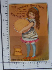 ATMORE'S MINCE MEAT ENGLISH PLUM PUDDING BOSTON MA GIRL HOLDING A PIE 1540