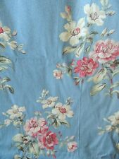 Laura Ashley Hampshire Pair of Lined Rod Pocket Drapes Blue Floral Print