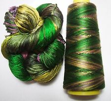 100% Pure Reeled Mulberry Silk Dupion Yarn 50 gram Butterfly Wings RS002 Lot I