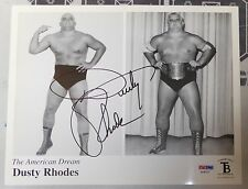 Dusty Rhodes Signed WWE 8x10 Photo PSA/DNA COA NWA Wrestling Picture Autograph
