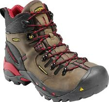 New Keen Mens Bison Brown Waterproof Pittsburgh Steel Toe Work Safety Boots 11.5