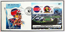 NUOVA Zelanda 1990 Giochi del Commonwealth, mini foglio di copertura, PRIMO GIORNO-LOTTO k378