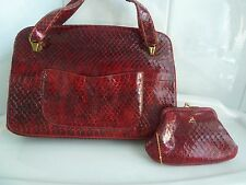 Vintage New Koret SNAKESKIN Saks Fifth Avenue WOT Purse Handbag 1970's/80's EC