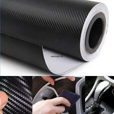 """DIY 12""""x50"""" 3D Texture CARBON Fiber Wrap Vinyl Decal Roll Film Car Sticker Sheet"""