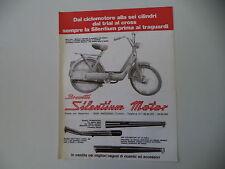 advertising Pubblicità 1977 SILENTIUM MOTOR e PIAGGIO CIAO 50