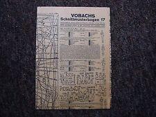 Alter Vobachs Schnittmusterbogen 17 von 1937
