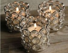 Crystal Wedding Table Centerpieces Tealight Votive Candle Holders 4 Pcs Set Box