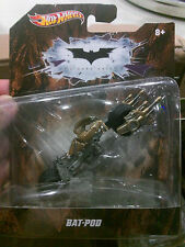 Hot Wheels The Dark Knight - Batpod, (1:50 Scale Bat-pod, Batmobile, Batwing)