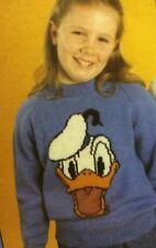 Disney Donald Duck Jumper ( Childrens & Adult)  Knitting Pattern