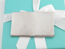 Tiffany & Co Silver Blank Business Card Holder Box Included