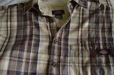 Lot of 2 Dickies Short sleeve &  Bare Long sleeve Shirt Brown Size S Rarely Used