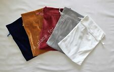 "NEW SET of 5 PCS (Set 2) Velvet Unlined Drawstring Bag Pouch 6"" x 9"""