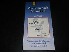 Fahrradkarte Tourenkarte Radwanderungen: Von Bonn nach Düsseldorf
