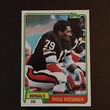 1981 Topps ROSS BROWNER #152  Cincinnati Bengals   Notre Dame Fighting Irish