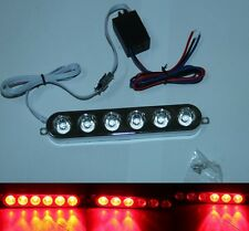 Red 6LED Motorcycle Brake Tail Strobe Light Flash Lamp Headlight Dirt Pit Bike
