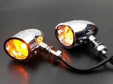 Bullet TURN SIGNALS W/ Visor + Clear Lens For HARLEY Dyna Softail XL 883 Electra