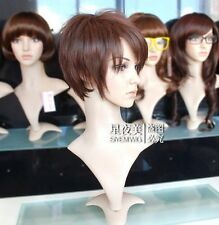 FIXSF52 long charming straight brown women's hair wig wigs for women