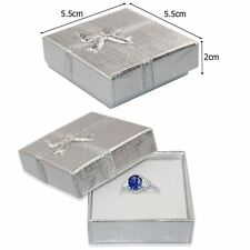 2x Silver Jewellery Gift Boxes Necklace Bracelet Bangle Earring Set 5.5x5.5x2cm