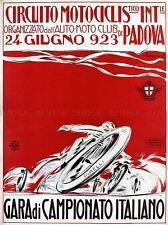 EXHIBITION SPORT MOTORCYCLE RACE CHAMPION PADOVA ITALY VINTAGE POSTER 857PYLV
