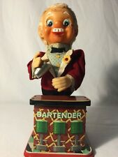 VINTAGE CHARLIE THE BARTENDER TOY TIN LITHO MADE IN JAPAN, Not Working
