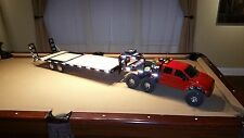 Axial SCX-10 Based Custom 6x6 Ford F-650 Flatbed Crawler with Gooseneck Trailer