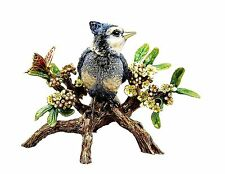 Jay Strongwater USA  Flora & Fauna Anderson Blue Jay On Branch Swarovski New Box