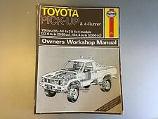 1979-1985 Toyota Pick-up Truck 4-Runner SR5 Haynes Repair Manual 20R 22R-E 4x4