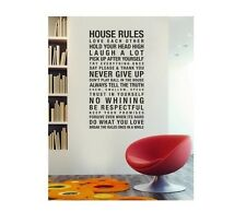 FAMILY HOUSE RULES Decal Decor for Room  #QU2