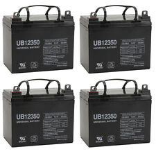 UPG 12V 35AH Industrial AGM Battery for UPS, Wheelchair, Medical, etc - 4 Pack