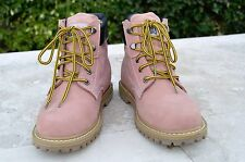 Safety Girl Steel Toe Oil resistant Womens Leather Work Boots Light Pink Sz 9 W