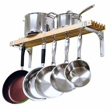 Cooks Standard Wooden WALL POT RACK, 36 Inch Wall Mount POT and PAN RACK