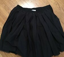 Moschino Cheap And Chic Black Pleat Skirt Size 8
