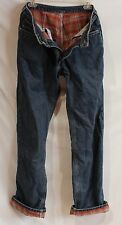 Womens Carhartt Relaxed Fit Flannel Lined Blue Jeans Carhart Denim Size 8 X 34