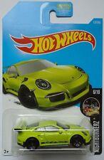 2017 Hot Wheels NIGHTBURNERZ 6/10 Porsche 911 GT3 RS 117/365 (Green Version)