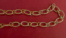 Vermeil, 22k gold over silver cable chain for jewelry making, 10x7mm,