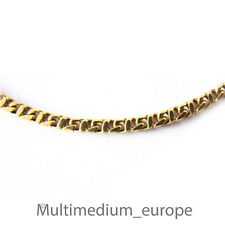 Halskette Pierre Lang stark vergoldet necklace gold plated signed 39 cm 2,4 mm