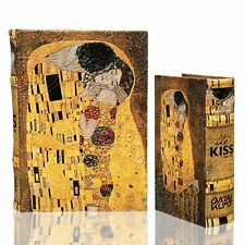 THE KISS (Lovers) by Gustav Klimt Book Box Set of 2 Secret Jewelry Box Golden