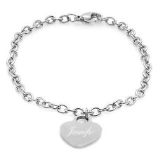 Personalized Quality Stainless Steel Heart Charm Bracelet -M506