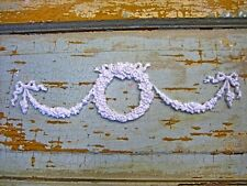 SHABBY & CHIC WREATH WITH SWAGS * FURNITURE APPLIQUES / ONLAYS