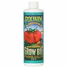 Fox Farm Grow Big HYDROPONIC 1 Pint pt 16 oz - nutrient fertilizer HYDRO 3-2-6