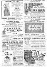 Victorian Adverts; Hop Bitters, Treloar's Rugs, Mappin & Webb-Antique Print 1887