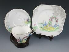 Vintage SHELLEY ARCHWAY OF ROSES TRIO Cup & Saucer Plate Cake 0162 England China