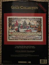 """Dimensions Gold Collection """"Joyous Advent Calendar"""" Counted Cross Stitch kit"""