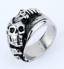 hot  jewelry stainless steel  Sword skull head warrior ring us size8