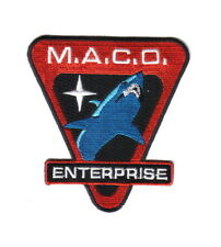 Star Trek Enterprise TV Series MACO Commandos Shark Logo Embroidered Patch NEW